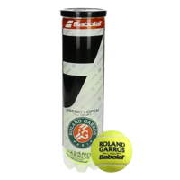TUBO DA 4 PALLINE BABOLAT ROLAND GARROS FRENCH OPEN ALL COURT