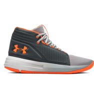 SCARPA DA BASKET JUNIOR UNDER ARMOUR BGS TORCH MID GRIGIO ARANCIONE