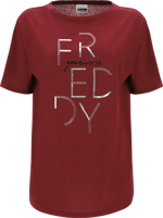 T-SHIRT MANICA CORTA DA DONNA FREDDY T-SHIRT BORDEAUX