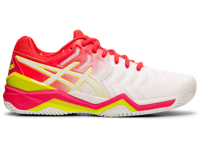 SCARPA DA TENNIS DA DONNA ASICS GEL-RESOLUTION 7 CLAY ROSA BIANCA ROSA