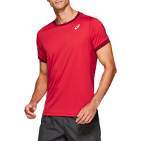 T-SHIRT DA TENNIS DA UOMO ASICS CLUB SS TOP ROSSA
