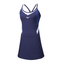 CANOTTA DA TENNIS DA DONNA MIZUNO AMPLIFY PRINTED DRESS BLU