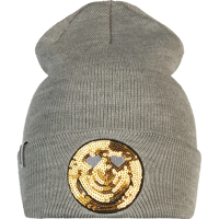 CAPPELLO BREKKA SMILEY SEQUINS GIRL GRIGIO