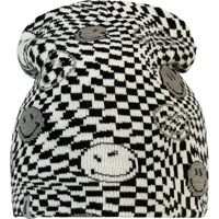 CAPPELLO BREKKA B-SPACE SMILEY BEANIE BIANCO