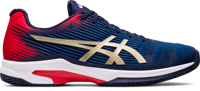 SCARPA DA TENNIS DA UOMO ASICS SOLUTION SPEED FF CLAY BLU ROSSA