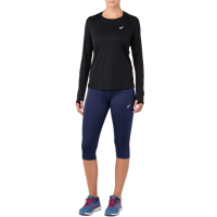 LEGGINS 3/4 DA DONNA ASICS SILVER KNEE TIGHT BLU