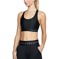 TOP SPORTIVO UNDER ARMOUR MID KEYHOLE NERO