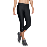 LEGGINS 3/4 DA DONNA UNDER ARMOUR CAPRI HEATGEAR NERO