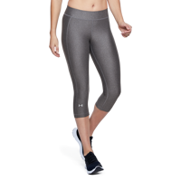 LEGGINS 3/4 DA DONNA UNDER ARMOUR CAPRI HEATGEAR GRIGIO