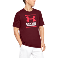 T-SHIRT DA UOMO UNDER ARMOUR UA GL FOUNDATION BORDEAUX
