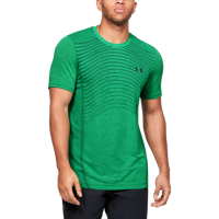 T-SHIRT DA UOMO UNDER ARMOUR SEAMLESS WAVE SS VERDE