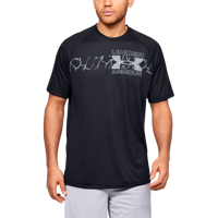 T-SHIRT DA UOMO UNDER ARMOUR UA TECH 2.0 GRAPHIC SS NERA