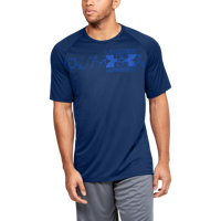 T-SHIRT DA UOMO UNDER ARMOUR UA TECH 2.0 GRAPHIC SS BLU
