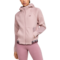 FELPA DA DONNA UNDER ARMOUR MOVE FULL ZIP HOOD MESH INSET ROSA