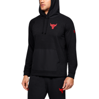 FELPA DA UOMO UNDER ARMOUR PROJECT ROCK TERRY HOODIE NERA