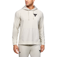 FELPA DA UOMO UNDER ARMOUR PROJECT ROCK TERRY HOODIE BIANCA