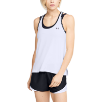 CANOTTIERA DA DONNA UNDER ARMOUR UA KNOCKOUT TANK BIANCA