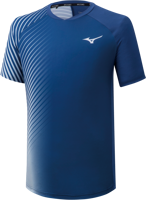 T-SHIRT DA UOMO MIZUNO TENNIS SHADOW GRAPHIC TEE BLU