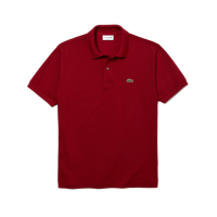 POLO LACOSTE MANICA CORTA REGULAR BORDEAUX
