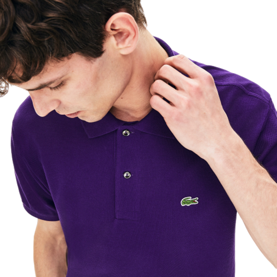 Violate that's all Freeze  POLO DA UOMO LACOSTE MANICA CORTA REGULAR VIOLA - Tecnica Sport