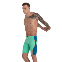 COSTUME DA GARA DA UOMO SPEEDO LZR PURE INTENT HIGHWAISTED JAMMER  VERDE BLU