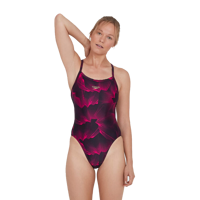 COSTUME INTERO SPEEDO COLOURVIBE TURNBACK NERO ROSA