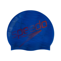 CUFFIA SPEEDO SLOGAN PRINT CAP BLU ROSSA