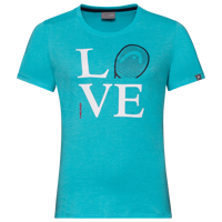 T-SHIRT DA BAMBNA HEAD LOVE AZZURRA