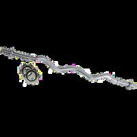 BILANCIERE CURL CROMATO TOORX 120 CM. CHIUSURA A VITE Ø MM.25