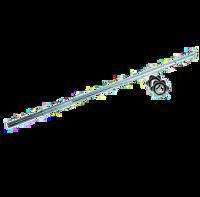 BILANCIERE CROMATO TOORX 215 CM. CHIUSURA VITE Ø MM.25