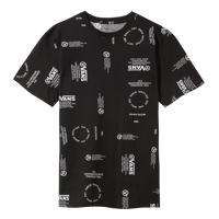T-SHIRT DA UOMO VANS MN DISTORTION ALLOVER PRINT NERA