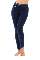 PANTALONE DA DONNA FREDDY IN JERSEY DENIM JEANS SCURO