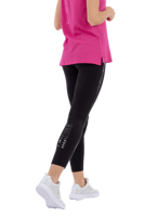 LEGGINGS DA DONNA FREDDY CON BANDE IN PAILLETTES NERO