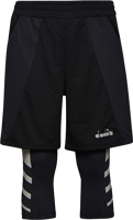 SHORT DA UOMO DIADORA RUNNING NERO CON LEGGINGS 3/4 NERO