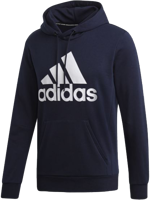 FELPA CON CAPPUCCIO DA UOMO ADIDAS MUST HAVES BADGE OF SPORT BLU