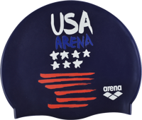 CUFFIA ADULTO SILICONE ARENA FLAGS SILICONE CAP USA