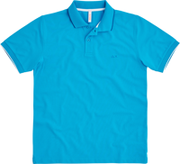 POLO DA UOMO SUN68 SMALL STRIPE ON COLLAR EL. AZZURRA