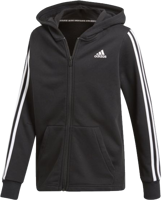 FELPA CON CAPPUCCCIO E ZIP DA UOMO ADIDAS MUST HAVES 3-STRIPES NERO