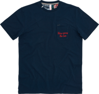 T-SHIRT DA UOMO SUN68 ROUND SOLID FUN POCKET BLU
