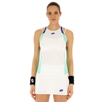 CANOTTA DONNA LOTTO TOP TEN  BIANCO CELESTE