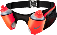 CINTURA DA RUNNING NIKE DOUBLE FLASK BELT NERO ROSSA