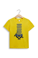 T-SHIRT BABY CON STAMPA FRONTALE ESPRIT GIALLA