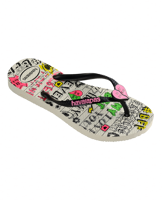INFRADITO JUNIOR HAVAIANAS KIDS SLIM BFF BIANCO