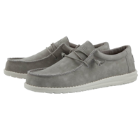 SCARPA DA UOMO DUDE WALLY RECYCLED LEATHER GREY
