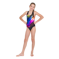 COSTUME JUNIOR SPEEDO PLACEMENT SPLASHBACK  NERO VIOLA