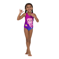 COSTUME INTERO JUNIOR SPEEDO ESS APPLIQUE VIOLA ROSA