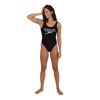 COSTUME INTERO SPEEDO SUMMER STRIPE DEEP U-BACK NERO BIANCO