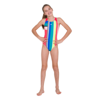 COSTUME INTERO JUNIOR SPEEDO DIGI PLACEMENT PULSEBACK ROSSO GIALLO