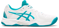 SCARPA DA TENNIS JUNIOR ASICS GEL-RESOLUTION 8 CLAY GS BIANCA