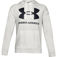 FELPA DA UOMO UNDER ARMOUR RIVAL FLEECE BIG LOGO HD GRIGIA